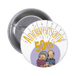 50th Wedding Anniversary Gifts Button