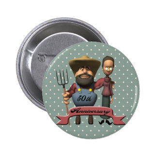 50th Wedding Anniversary Gifts Pinback Buttons