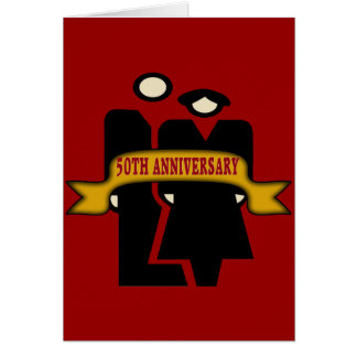 50th Wedding Anniversary Gifts Card