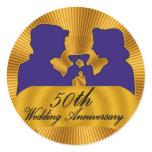 50th Wedding Anniversary Gifts Classic Round Sticker