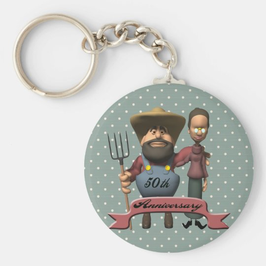 50th Wedding Anniversary Gifts Keychain