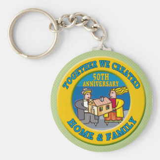 50th Wedding Anniversary Gifts Key Chain