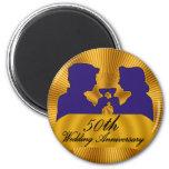 50th Wedding Anniversary Gifts Refrigerator Magnets