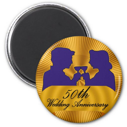 50th Wedding Anniversary Gifts Refrigerator Magnets