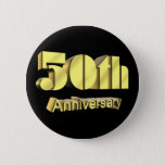 50th Wedding Anniversary Gifts Pinback Button