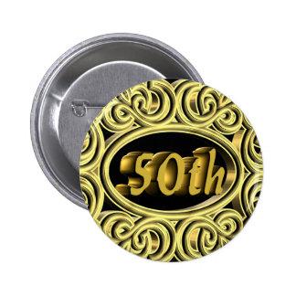50th Wedding Anniversary Gifts Pinback Button