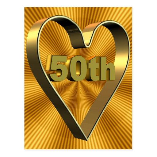 50th Wedding Anniversary Gifts Postcard