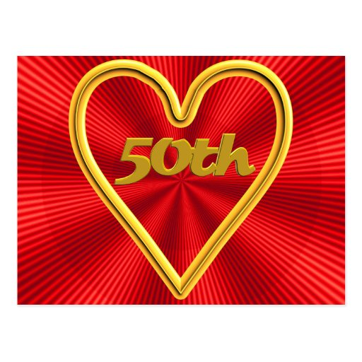 50th Wedding Anniversary Gifts Postcards