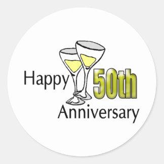 50th Wedding Anniversary Gifts Round Sticker