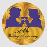 50th Wedding Anniversary Gifts Classic Round Sticker