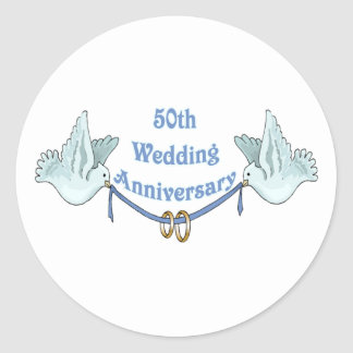 50th wedding anniversary gifts t classic round sticker