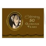 50th Wedding Anniversary - Glorious Years Greeting Card