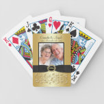50th Wedding Anniversary Gold Black Playing Cards
