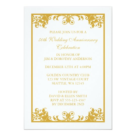 50th Anniversary Invitations & Announcements | Zazzle