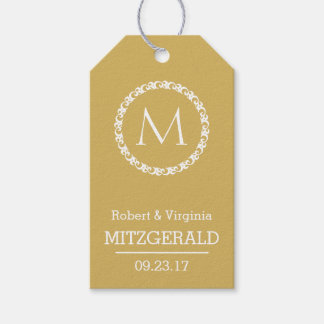 50th Wedding Anniversary Gold Guest Favor Gift Tags