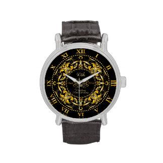 50th Wedding Anniversary Gold Ornate - Watch
