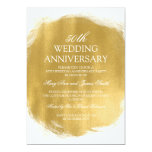 50th Wedding Anniversary Gold Paint Look Card