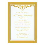 50th Wedding Anniversary Gold Vintage Flourish Personalized Invitations