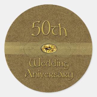 50th Wedding Anniversary - Golden seal