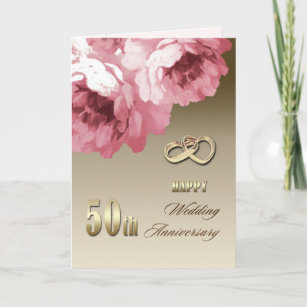50th wedding anniversary cards zazzle 50th wedding anniversary greeting cards m4hsunfo