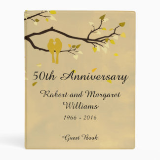 50th Wedding Anniversary Guest Book Mini Binder