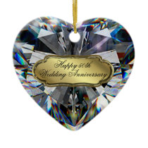 50th Wedding Anniversary Heart Ornament