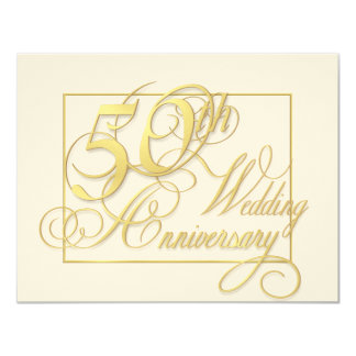 50th Wedding Anniversary - Inexpensive Invitations
