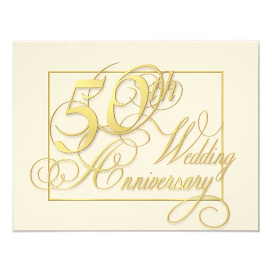 50th wedding anniversary inexpensive invitations zazzle com