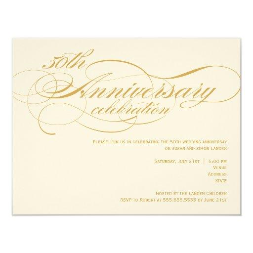 50th Wedding Anniversary Invitations: 50th Wedding Anniversary Invitation