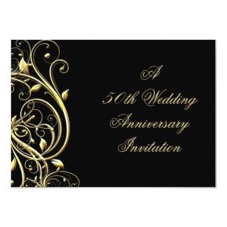 "50th Wedding Anniversary Invitation 4.5"" X 6.25"" Invitation Card"