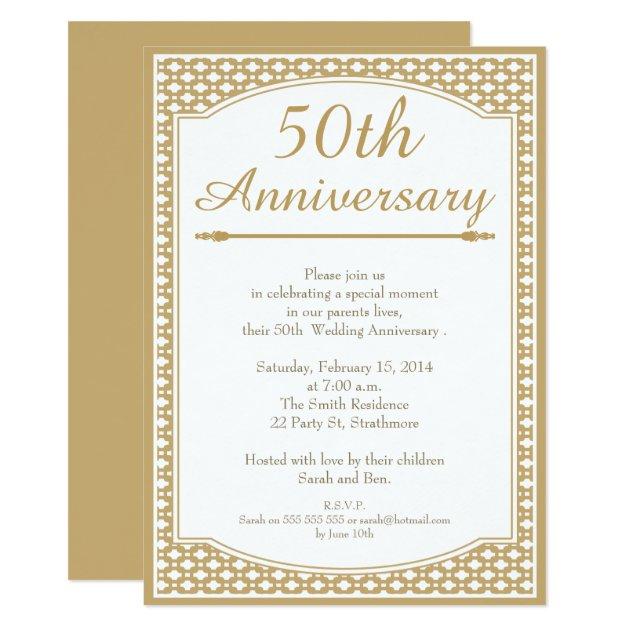 50th Wedding Anniversary Invitation | Zazzle