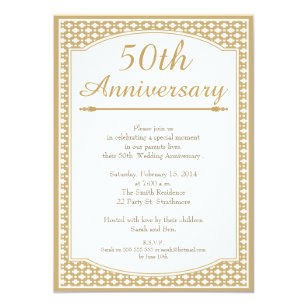 50th wedding anniversary invitations zazzle 50th wedding anniversary invitation stopboris