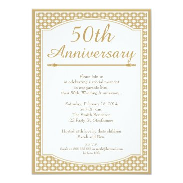 anniversarie 50th Wedding Anniversary Invitation