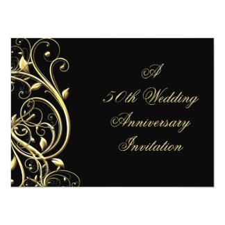"50th Wedding Anniversary Invitation 5.5"" X 7.5"" Invitation Card"