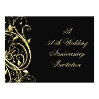 "50th Wedding Anniversary Invitation 6.5"" X 8.75"" Invitation Card"