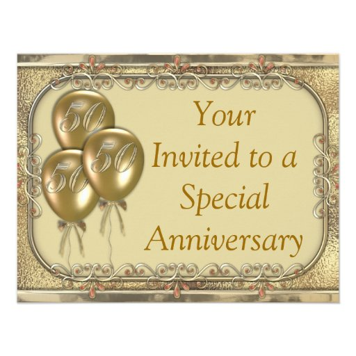 50Th Wedding Anniversary Invitation is one of our best ideas you might choose for invitation design