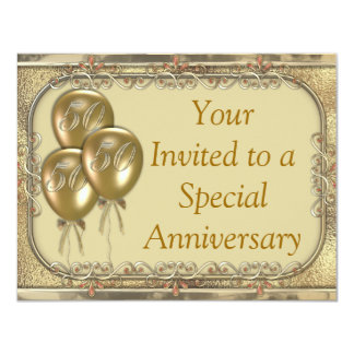 50th Wedding anniversary invitation announcement