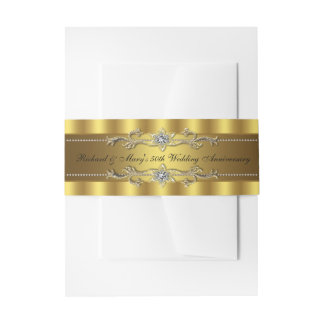 50th Wedding Anniversary Invitation Belly Band