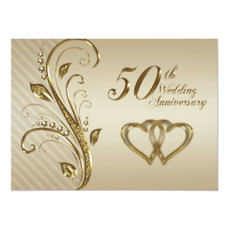 "50th Wedding Anniversary Invitation Card 5.5"" X 7.5"" Invitation Card"