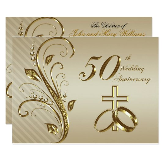 50Th Wedding Anniversary Invitation Card | Zazzle