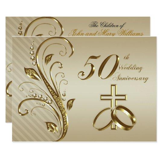 50th wedding anniversary invitation card zazzle com