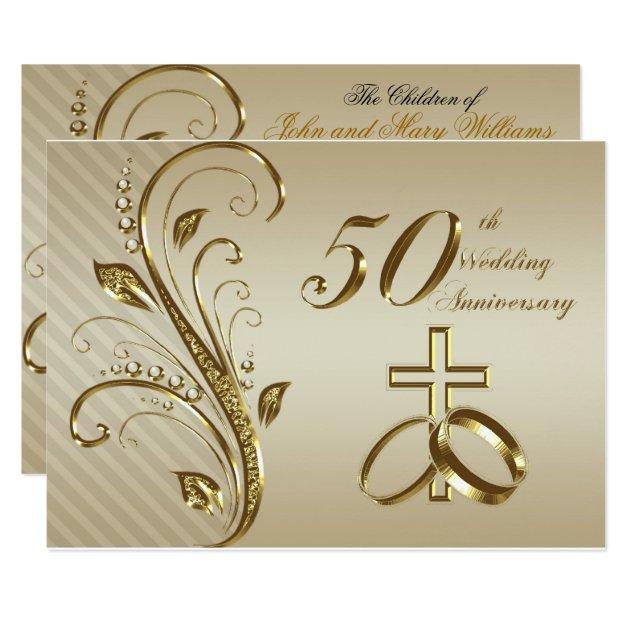 50th Wedding Anniversary Invitation Card Zazzle