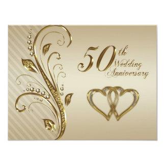 "50th Wedding Anniversary Invitation Card 4.25"" X 5.5"" Invitation Card"