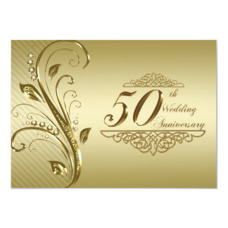 "50th Wedding Anniversary Invitation Card 4.5"" X 6.25"" Invitation Card"