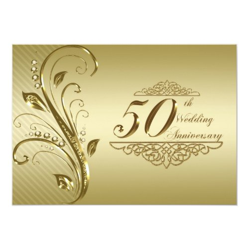 Top 50 popular 50th wedding anniversary invitation 2015 unique 50 50th wedding anniversary invitation card stopboris Image collections