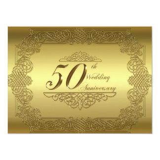 "50th Wedding Anniversary Invitation Card 6.5"" X 8.75"" Invitation Card"
