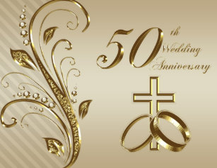 50th anniversary wedding invitations zazzle 50th wedding anniversary invitation card stopboris Image collections