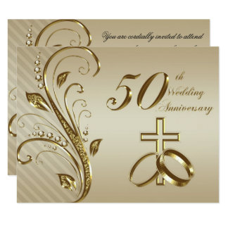 50th Wedding Anniversary Invitation Card Zazzle_invitation2