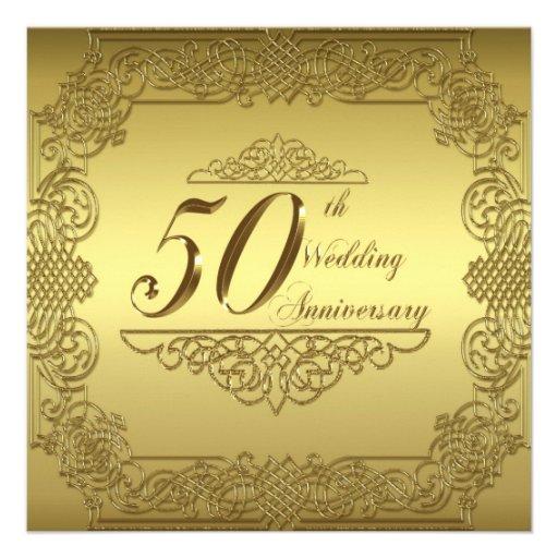 Th wedding anniversary invitation card zazzle