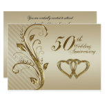 50th Wedding Anniversary Invitation Card at Zazzle